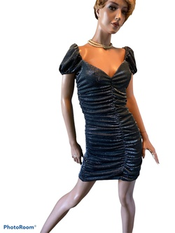 Privacy Please Silver Size 8 Cocktail Dress on Queenly