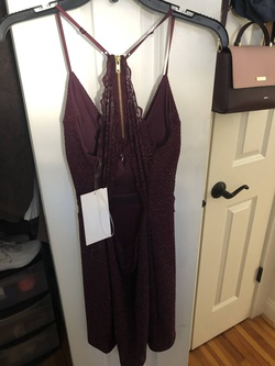 Honey and Rosie Red Size 16 Burgundy Plus Size Homecoming Straight Dress on Queenly