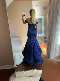 Mac Duggal Blue Size 2 Tall Height Mermaid Dress on Queenly