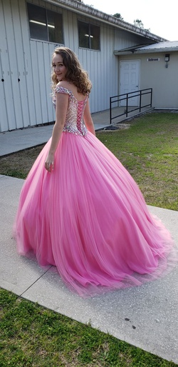 M Culture Light Pink Size 0 Sequin Ball gown on Queenly