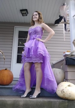 Purple Size 6 Mermaid Dress on Queenly