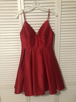 Queenly size 6 Avery G Red A-line evening gown/formal dress