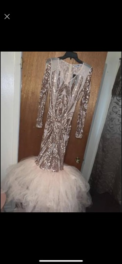 Nude Size 12 Mermaid Dress on Queenly