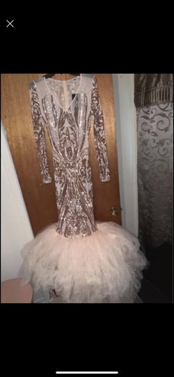 Queenly size 12  Nude Mermaid evening gown/formal dress