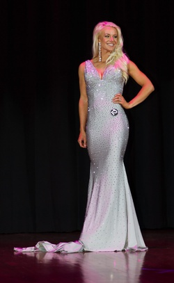 Queenly size 6  Silver Mermaid evening gown/formal dress