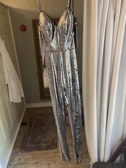 Style 64578 Jovani Multicolor Size 00 Jumpsuit Silver Romper/Jumpsuit Dress on Queenly