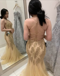 Camille La Vie Gold Size 0 Jewelled Corset Mermaid Dress on Queenly