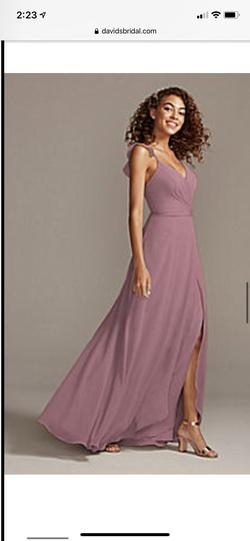 David's Bridal Pink Size 22 Plus Size Side slit Dress on Queenly