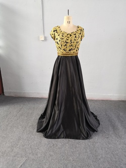 Black Size 12 A-line Dress on Queenly