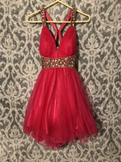 Queenly size 4 Lets Fashion Pink Ball gown evening gown/formal dress
