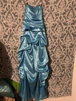 Blue Size 8 Straight Dress on Queenly