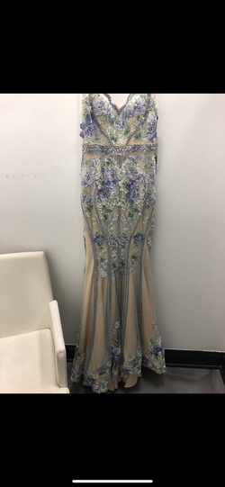 Queenly size 0 Jovani Blue Straight evening gown/formal dress