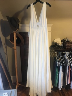 White Size 6 A-line Dress on Queenly