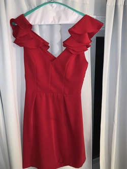 Amanda Uprichard Red Size 6 Graduation Sorority Formal Wedding Guest Cocktail Dress on Queenly