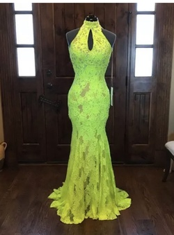 Queenly size 0  Yellow Mermaid evening gown/formal dress