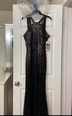 Queenly size 12  Black Side slit evening gown/formal dress