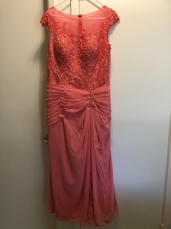 Queenly size 12  Orange Ball gown evening gown/formal dress