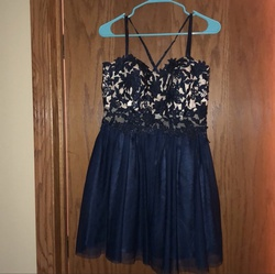 Queenly size 12  Blue Cocktail evening gown/formal dress