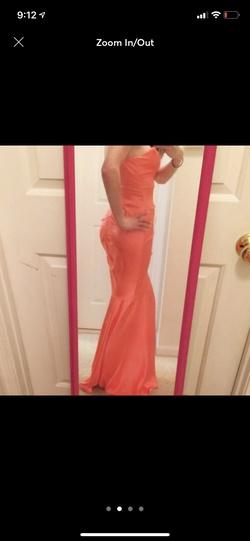 Xscape Orange Size 4 Mermaid Dress on Queenly