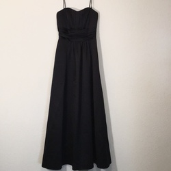 David's Bridal Black Size 2 Sweetheart Wedding Guest A-line Dress on Queenly