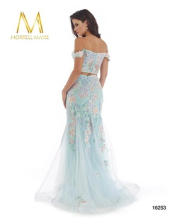 Style 16253 Morrell Maxie Blue Size 4 Tall Height Lace Mermaid Dress on Queenly