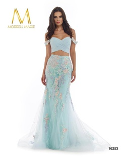 Queenly size 4 Morrell Maxie Blue Mermaid evening gown/formal dress