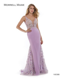 Queenly size 6 Morrell Maxie Purple Mermaid evening gown/formal dress