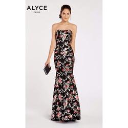 Queenly size 8 Alyce Paris Black  evening gown/formal dress