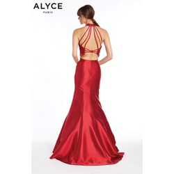 Style 1409 The Secret Dress by Alyce Paris Red Size 14 Two Piece Lace Plus Size Mermaid Dress on Queenly