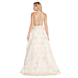 Style 60437 Alyce Paris Gold Size 8  on Queenly