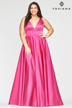 Queenly size 20 Faviana Pink A-line evening gown/formal dress