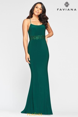 Queenly size 6 Faviana Green Mermaid evening gown/formal dress