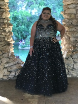 Queenly size 20  Black Ball gown evening gown/formal dress