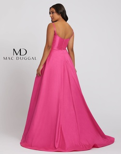 Style 67219F Mac Duggal Blue Size 24 Train Prom A-line Dress on Queenly