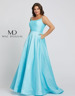 Queenly size 24 Mac Duggal Blue A-line evening gown/formal dress