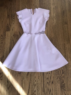 Ted Baker Pink Size 0 Sheer A-line Dress on Queenly