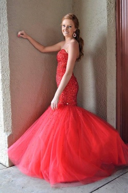 Mori Lee Red Size 6 Mermaid Dress on Queenly