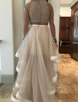 Nude Size 6 Train Dress on Queenly