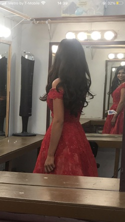 Sherri Hill Red Size 2 Pageant Ball gown on Queenly