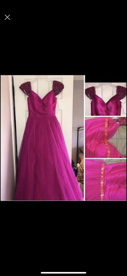 Queenly size 00 Sherri Hill Pink A-line evening gown/formal dress