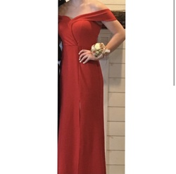 Queenly size 8 Speechless Red A-line evening gown/formal dress