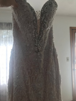 Mori Lee White Size 2 Short Height Sheer Lace Mermaid Dress on Queenly