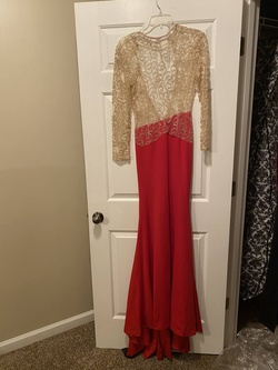 Queenly size 8  Red Train evening gown/formal dress