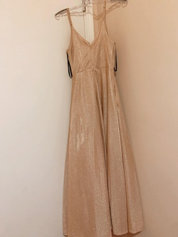 speechless Gold Size 4 Prom Cocktail Dress on Queenly