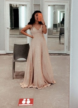 Queenly size 4 speechless Gold Cocktail evening gown/formal dress
