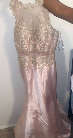 Gold Size 18 Mermaid Dress on Queenly