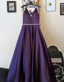 Queenly size 12  Purple Ball gown evening gown/formal dress