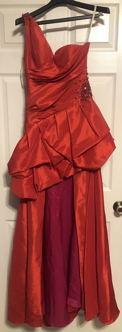Sherri Hill Pink Size 2 Silk Straight Dress on Queenly