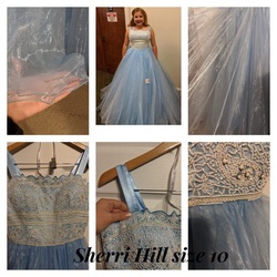 Queenly size 10  Blue Ball gown evening gown/formal dress