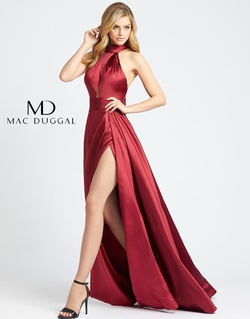 Queenly size 14  Red Side slit evening gown/formal dress